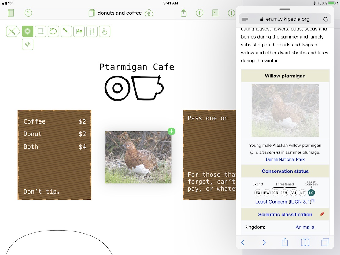 the release was a major update with brand new functionality for omnigraffle featuring drag and drop in different areas of the app as well as integration - Omnigraffle App