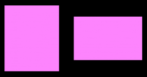 Screenshot showing two rectangles with the same styles.