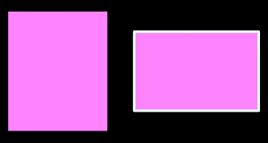 Screenshot showing to rectangles with the same Fill Color style.